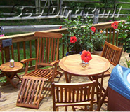 Teak, Brazilian Cherry, Mahogany, Ipe, Cedar and Pine furniture - click above link for Gallery